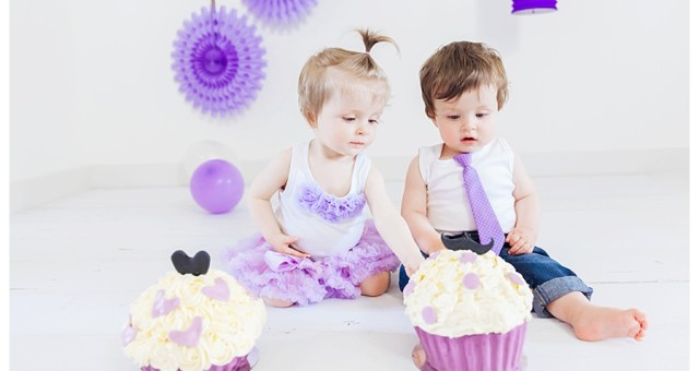 Cake Smash Fotoshoot Tweeling Jasper en Esmée