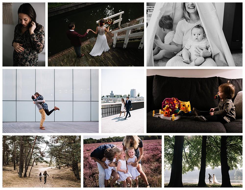 voorbeelden van verschillende locaties voor fotoshoots