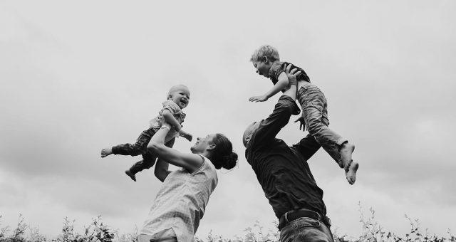 Pure gezinsfoto's