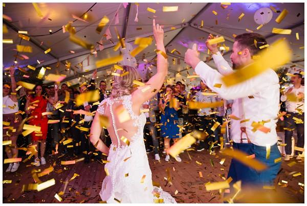 Bruiloft Evertjan Monique, trouwen in een tent
