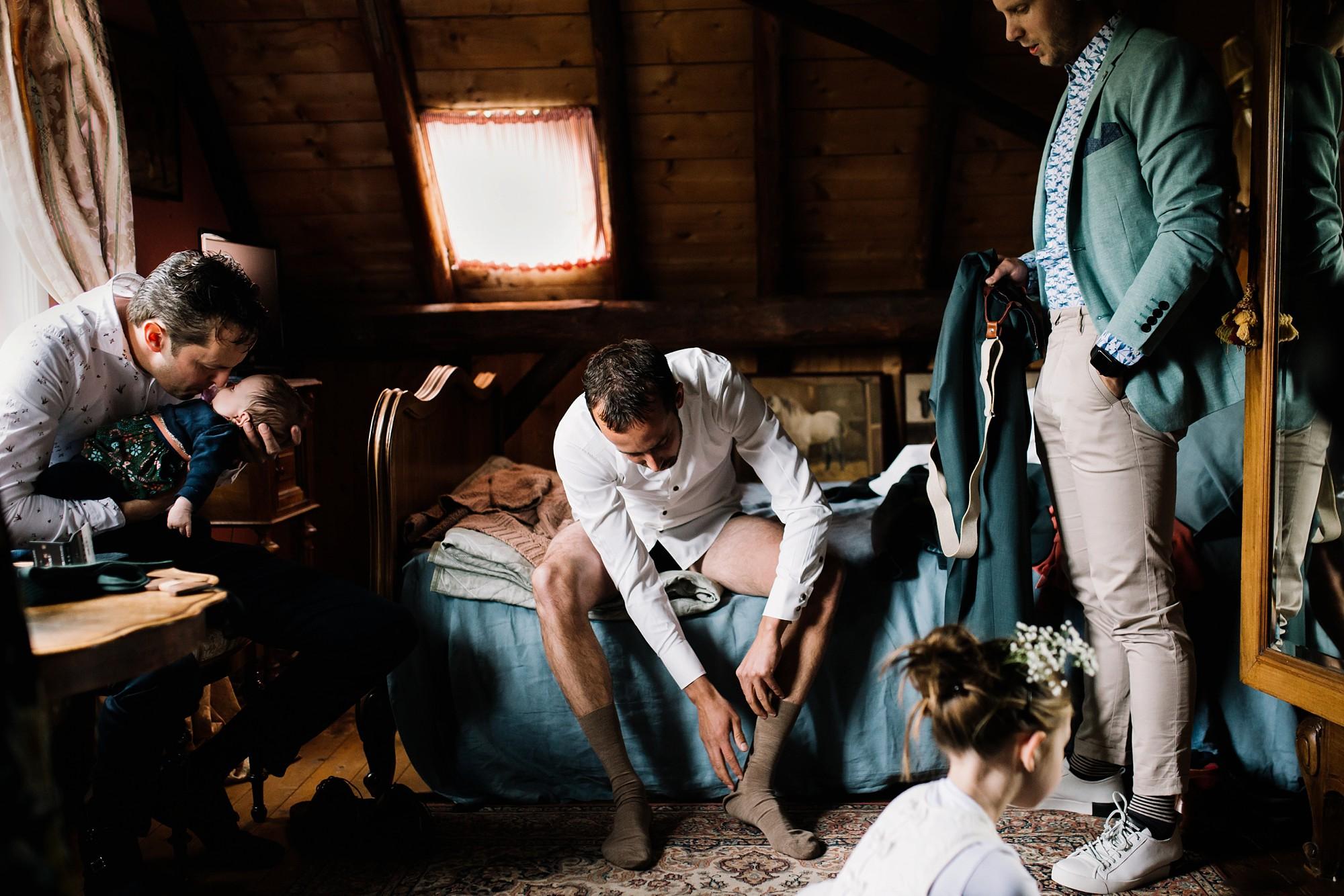 Klaarmaken bruiloft bruidegom in Amerongen door Ohbelle