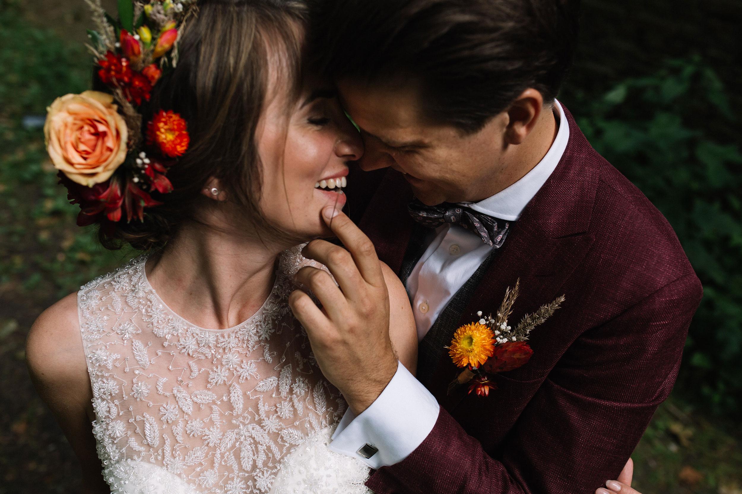 Bruidspaar closeup